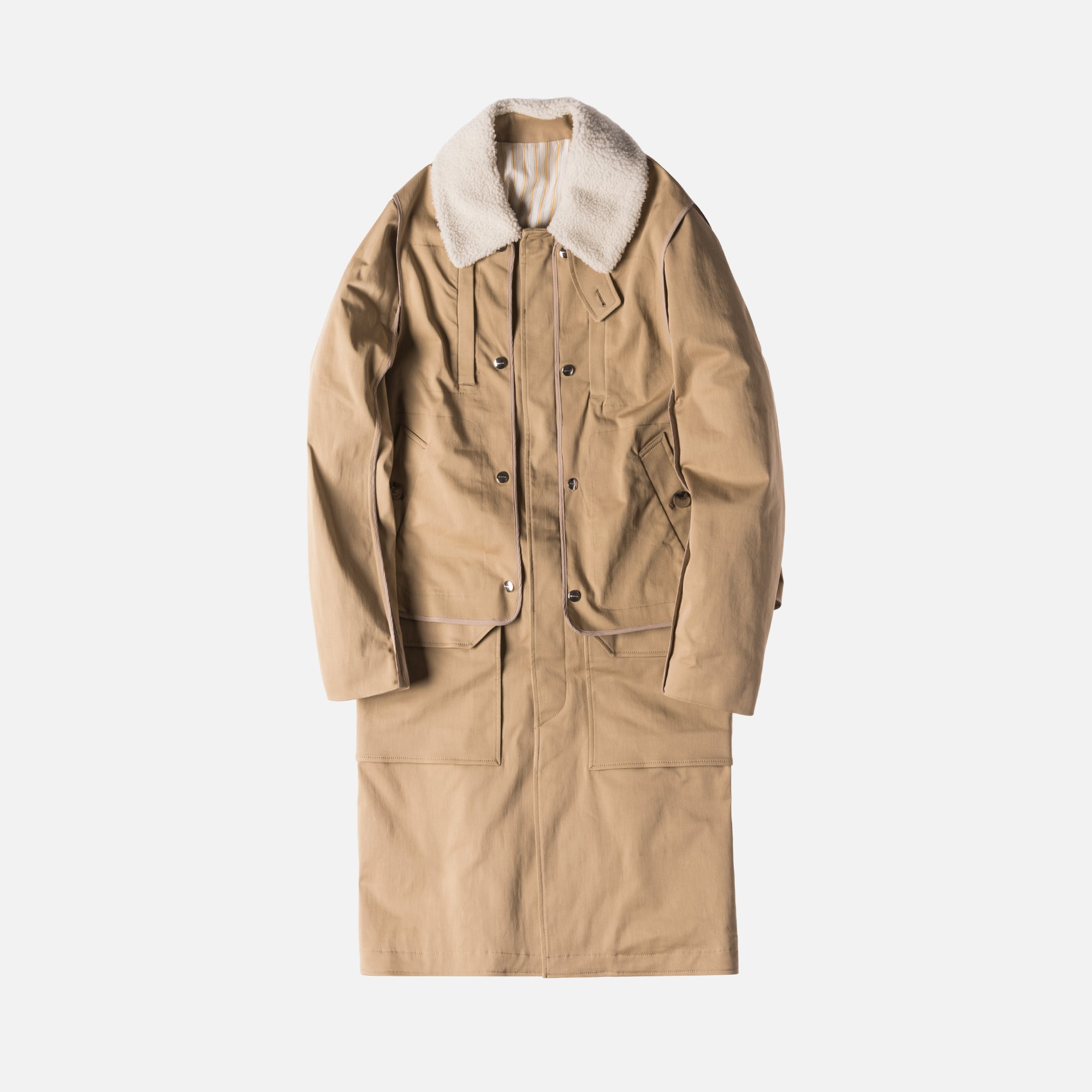 Tim Coppens Layered Trench Coat - Tan