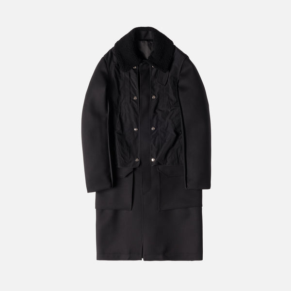 Tim Coppens Layered Trench Coat - Black