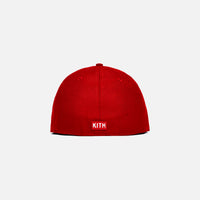 Kith x New Era Low Prof 59FIFTY Mets - Scarlet Thumbnail 1