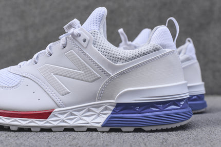 New Balance 574S - White / Blue / Red
