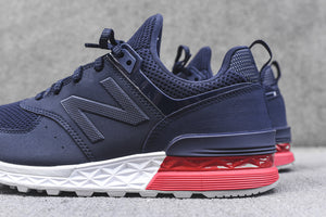 New Balance 574S - Navy / Red / White