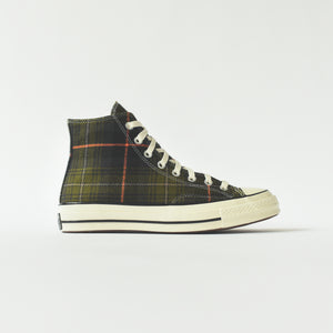Converse Chuck Taylor 70 High - Olive Plaid / Orange