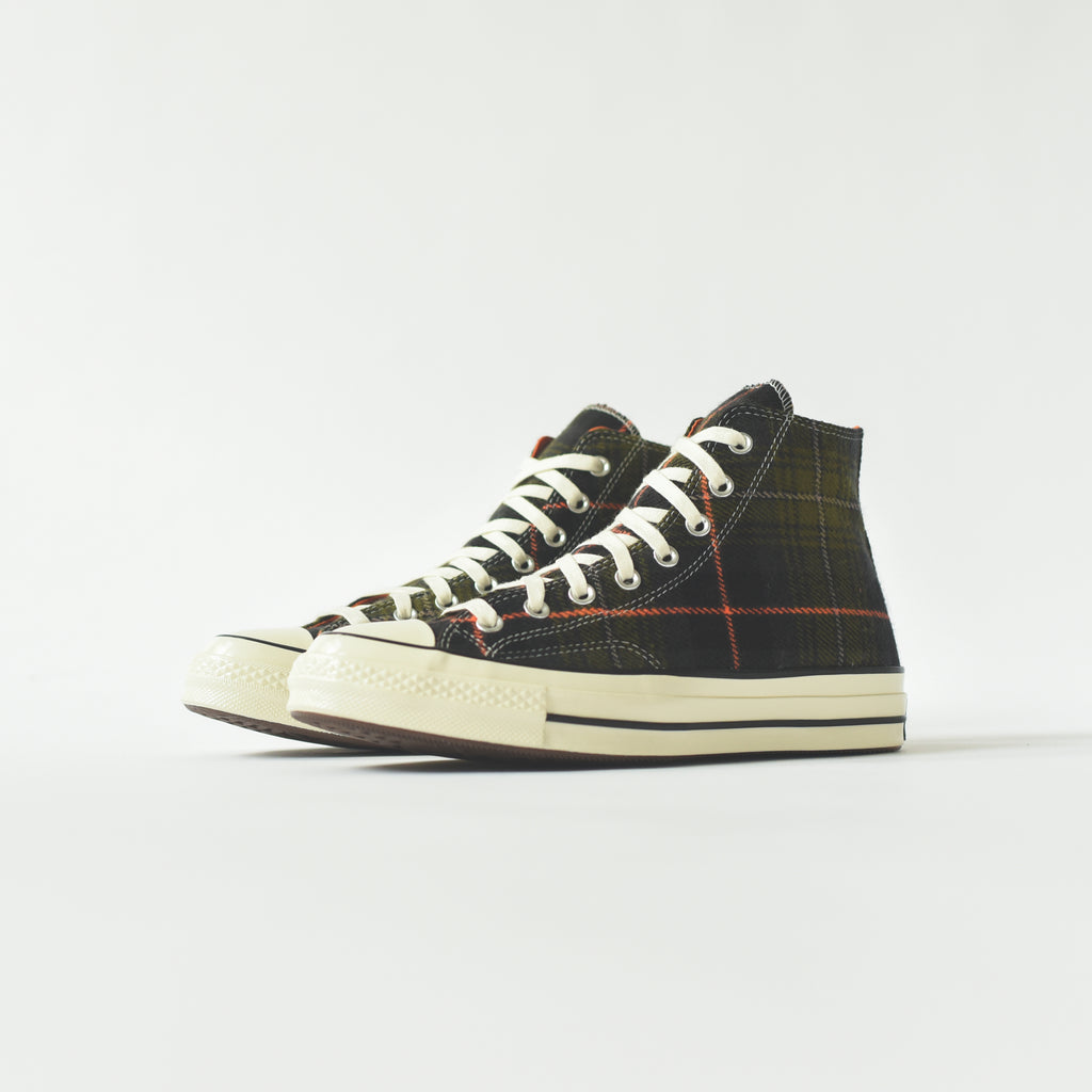 690ab7af677b Converse Chuck Taylor 70 High - Olive Plaid   Orange – Kith