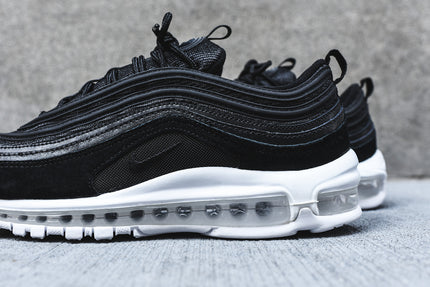 men's black nike air max 97 white