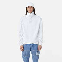 Kith Cotton Jersey Funnel Neck - Heather Grey Thumbnail 1