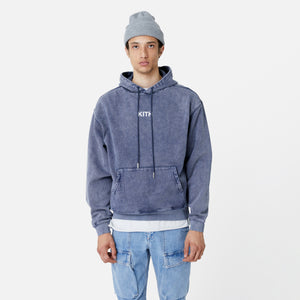 Kith Williams III Crystal Wash Fleece Hoodie - Obsidian / Navy Image 4