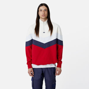 Kith Track Line Quarter-Zip Pullover - Red / Multi Image 4