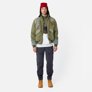Kith Colorblocked Sateen Bomber - Olive Image 7