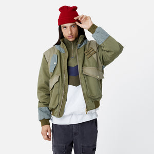 Kith Colorblocked Sateen Bomber - Olive Image 8