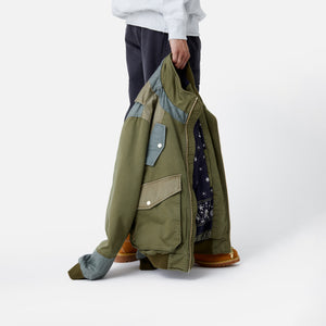 Kith Colorblocked Sateen Bomber - Olive Image 9