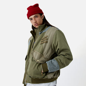 Kith Colorblocked Sateen Bomber - Olive Image 10