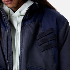 Kith Colorblocked Sateen Bomber - Navy Image 8
