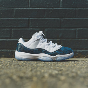 classic fit 7224b c09e5 Nike Air Jordan 11 Retro Low LE - White   Black   Navy