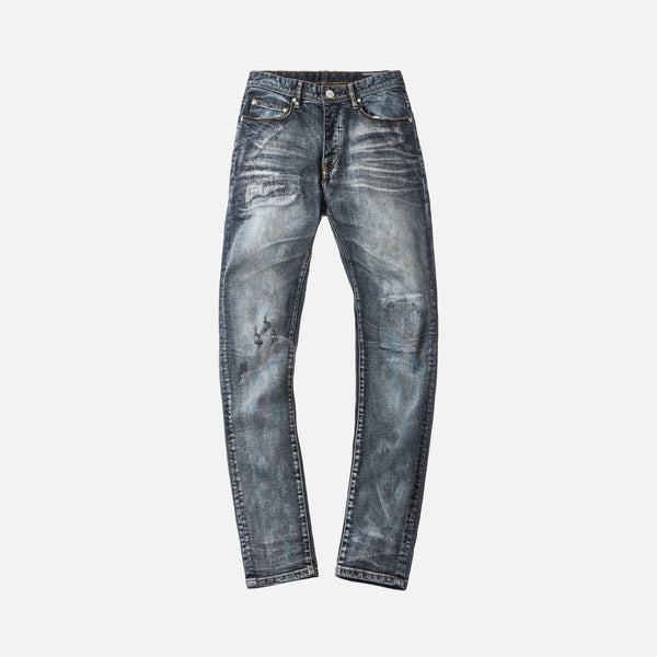 Kith Super Destroyed Monroe Denim - Washed Dark Blue