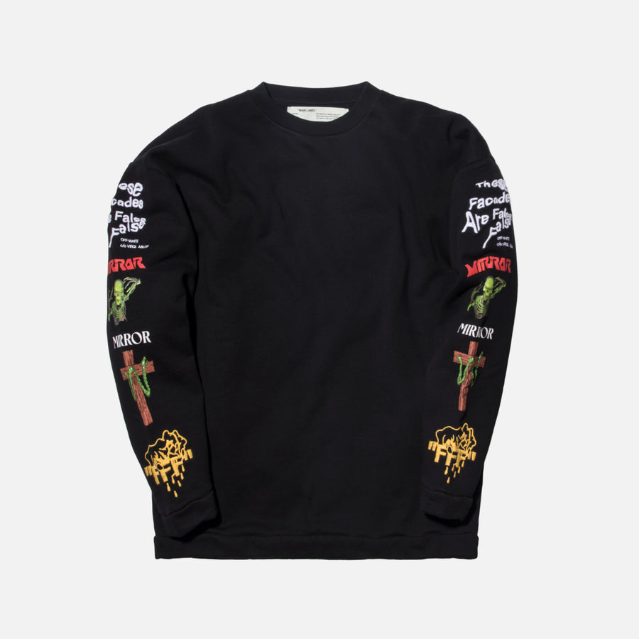 Off-White Mix Rock Crewneck - Black