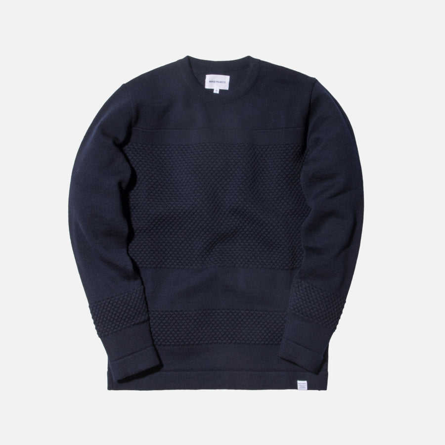Norse Projects Skagen Bubble Crewneck - Navy