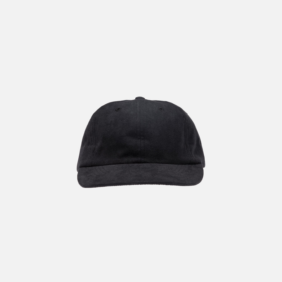 Norse Projects Light Faux Suede Cap - Black