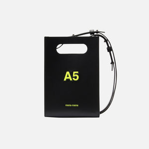 Nana-Nana A5 Leather - Black w/ Neon Yellow