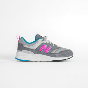 New Balance Grade School 997 HV1 - Grey / Pink / Blue Image 1