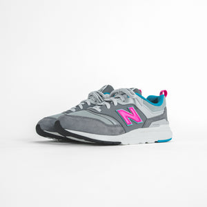 New Balance Grade School 997 HV1 - Grey / Pink / Blue Image 3