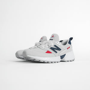 New Balance Grade School 574 - Sport Grey / Blue / Red