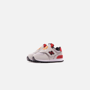 New Balance Toddler 574 - Rain Cloud / Team Red