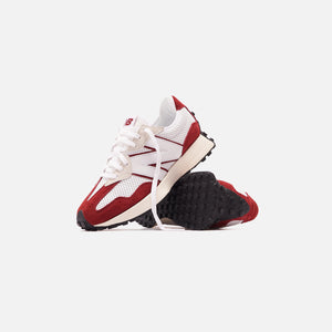 New Balance 327 - White / Scarlet