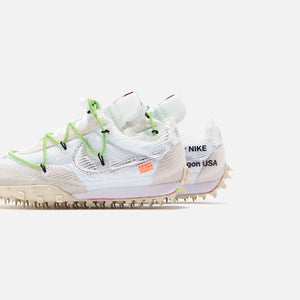 Nike x Off-White WMNS Waffle Racer - White / Black / Electric Green