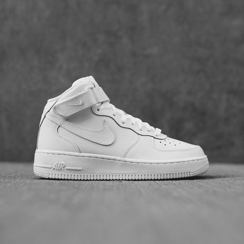 Nike Grade School Air Force 1 - Mid White / White