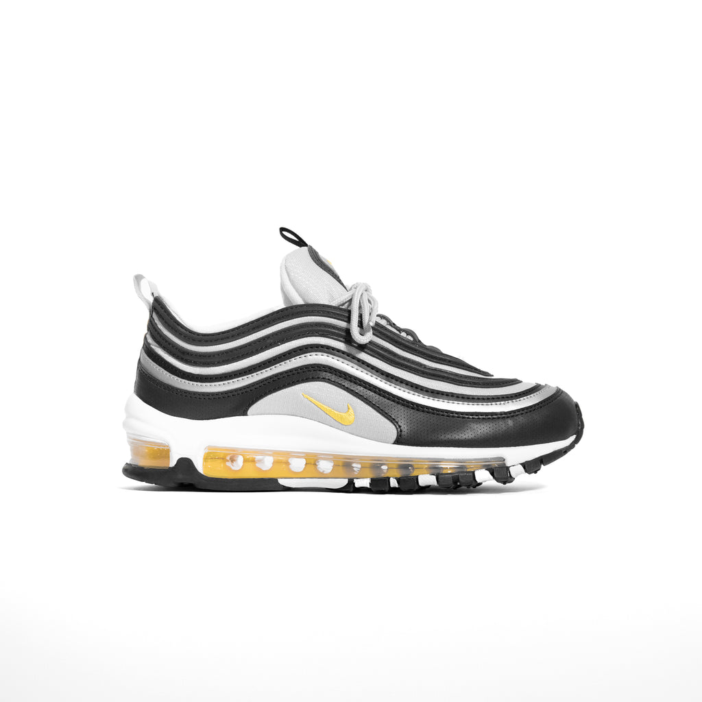 Nike Air Max 97 Grade School Black Amarillo Reflect Silver