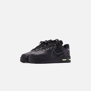 Nike Air Force 1 React - Black / Anthracite / Violet Star / Barely Volt