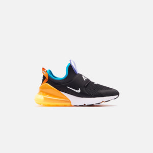 Nike Grade School Air Max 270 - Extreme Black / Metallic Silver / Orange Image 1