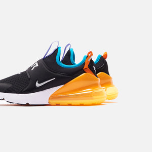 Nike Grade School Air Max 270 - Extreme Black / Metallic Silver / Orange Image 4