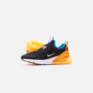 Nike Grade School Air Max 270 - Extreme Black / Metallic Silver / Orange Image 5