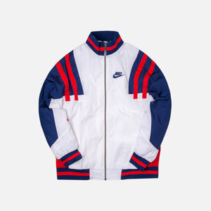 Nike Woven Re-issue Jacket - White / Blue / Red Image 1