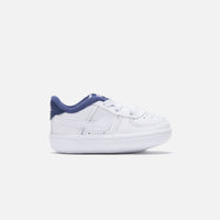 Nike Crib Air Force 1 - White / White Deep / Royal Blue Thumbnail 1