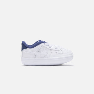 Nike Crib Air Force 1 - White / White Deep / Royal Blue Image 1