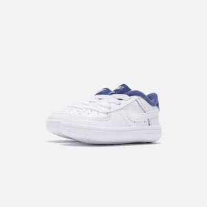 Nike Crib Air Force 1 - White / White Deep / Royal Blue Image 2