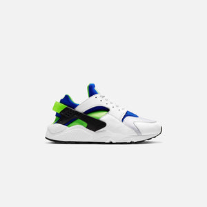 Nike Air Huarache - White / Scream Green / Royal Blue / Black