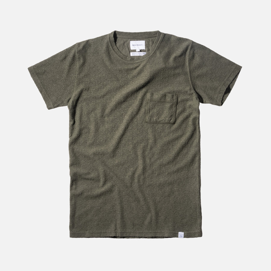Norse Projects Niels Japanese Pocket Tee - Dried Olive