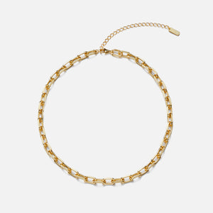 Numbering Link Choker 18K Gold Plated