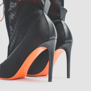 Heron Preston WMNS Neoprene Bootie - Bordeaux / Black