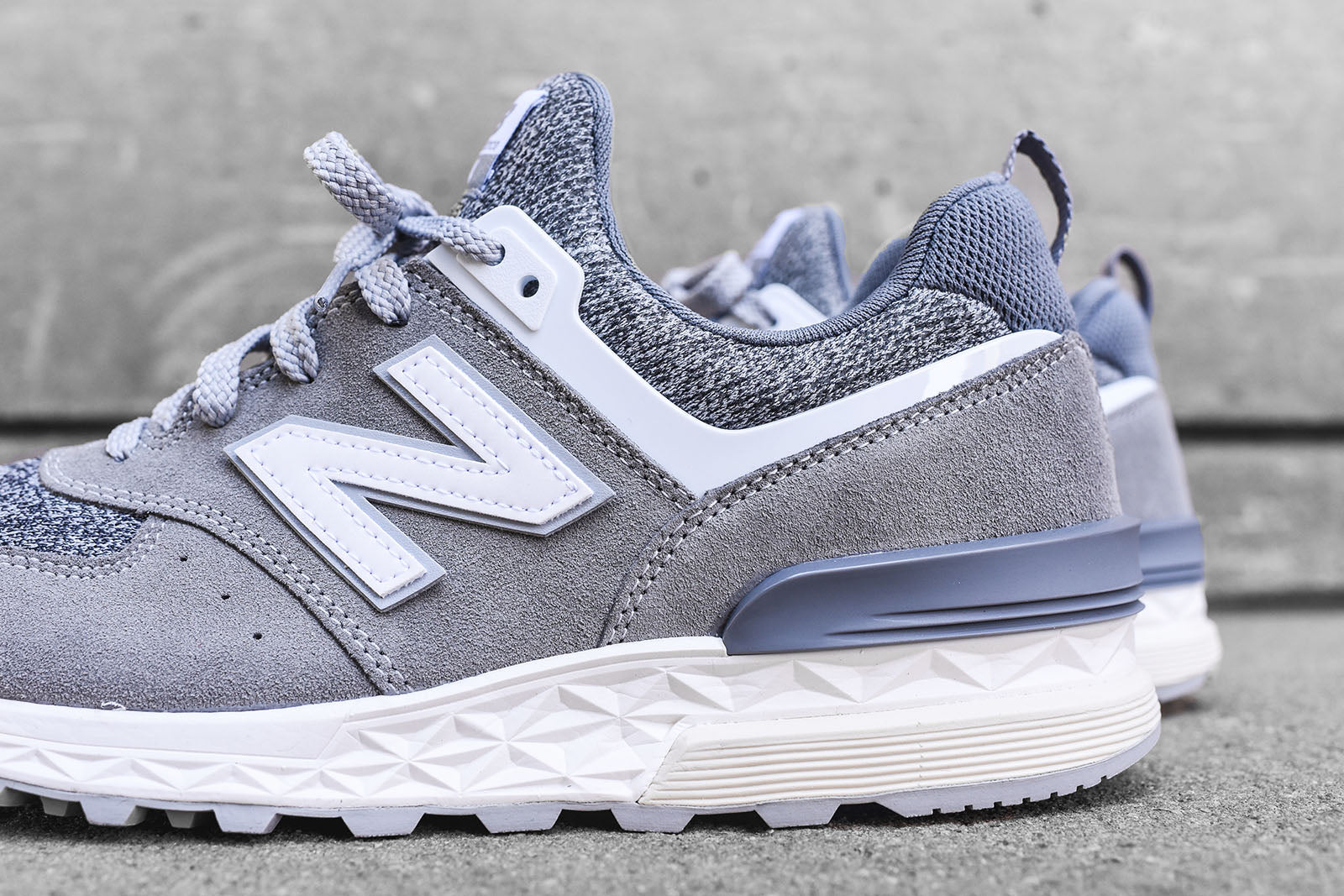New Balance 574 Sport - Grey / White
