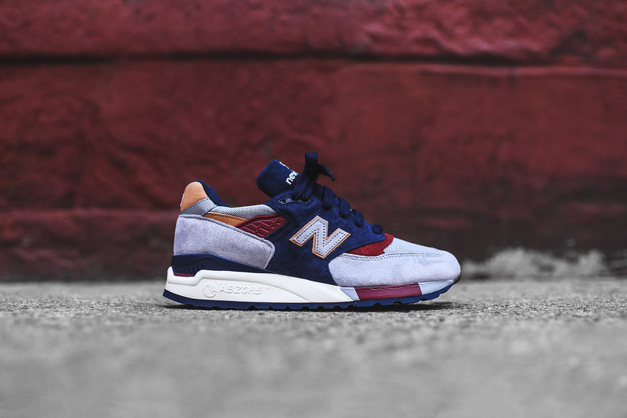 New Balance 998 - Grey / Navy / Red