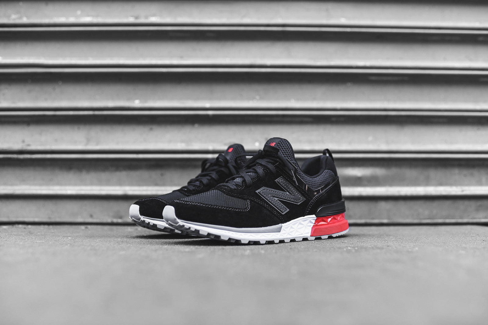 New Balance 574 Sport - Black / Red