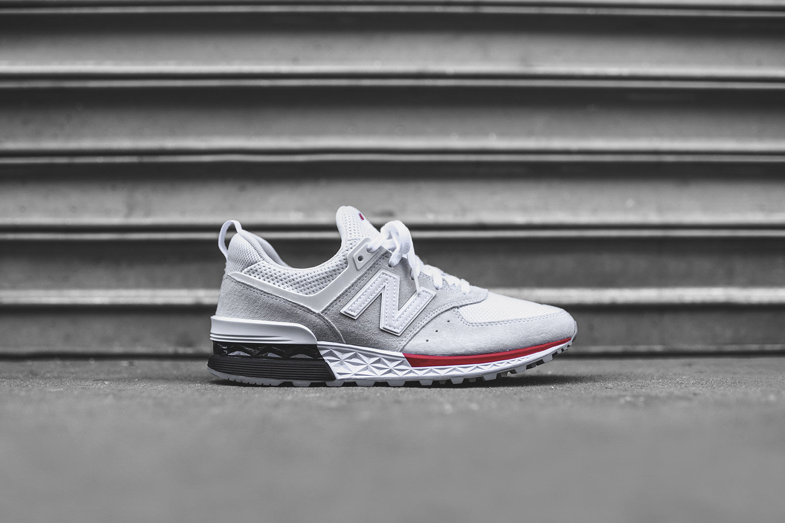 quality design e810b 4a390 New Balance 574 Sport - White / Red – Kith