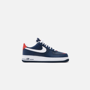Nike Air Force 1 '07 LV8 Low - Obsidian / White / University Red Image 1