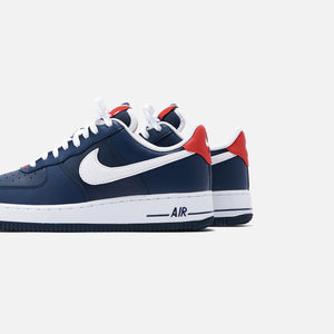 Nike Air Force 1 '07 LV8 Low - Obsidian / White / University Red Image 6