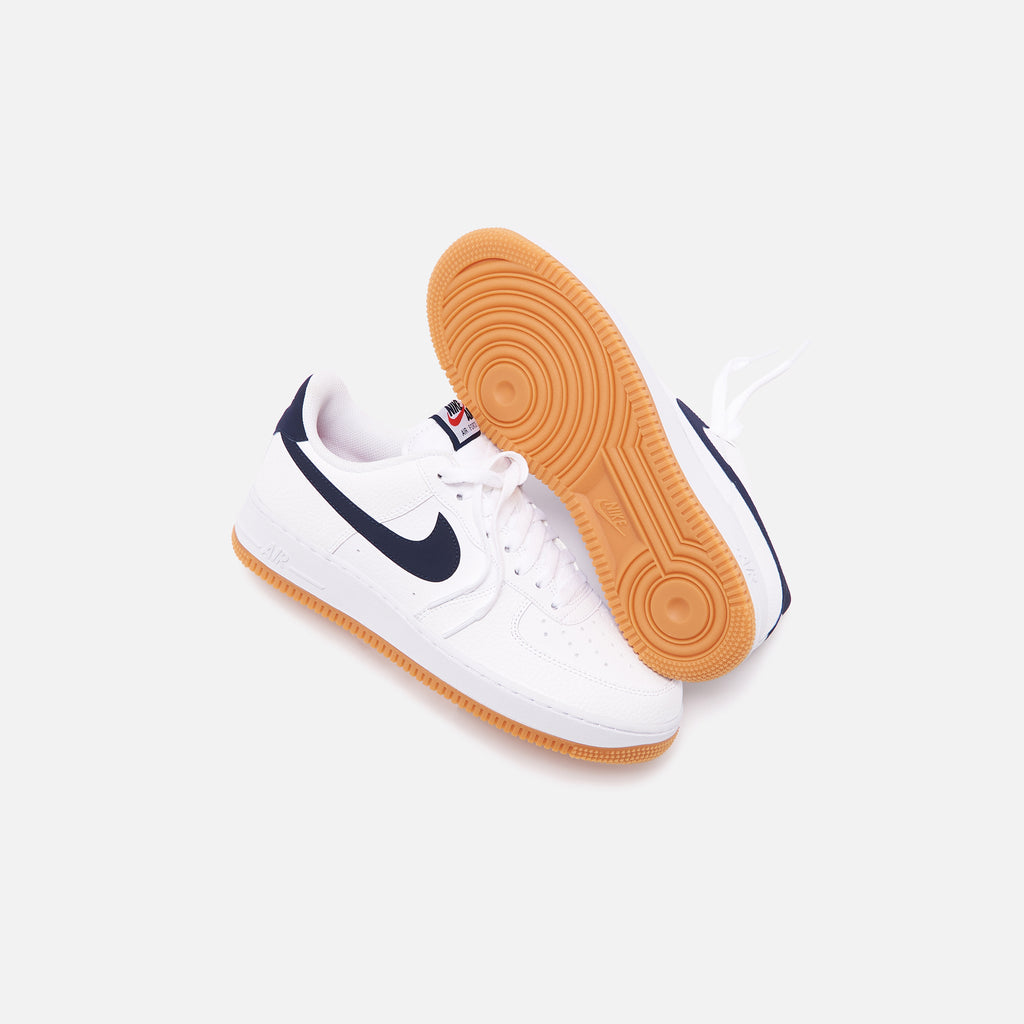 Nike Air Force 1 07 White Obsidian University Red Kith
