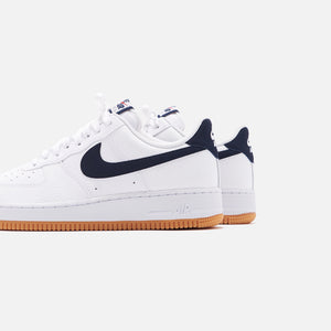 Nike Air Force 1 '07 - White / Obsidian / University Red Image 5